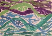 Colores fríos. Arte en primaria