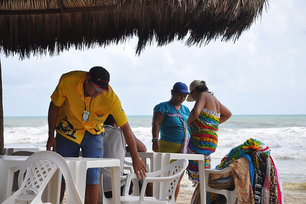Fortaleza, Brazil -- Playa Futuro.  Random people.