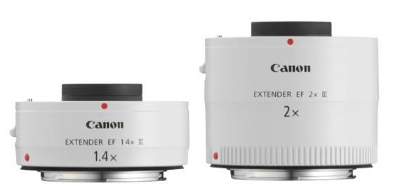 Teleconverter extender canon