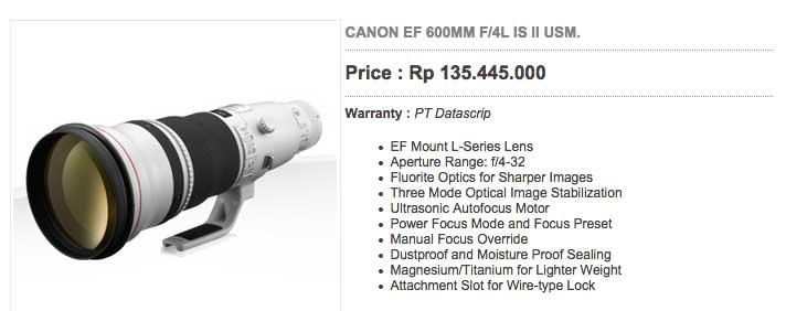 Canon 600mm4