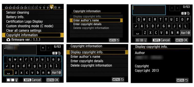 Copyright hak cipta exif foto kamera canon
