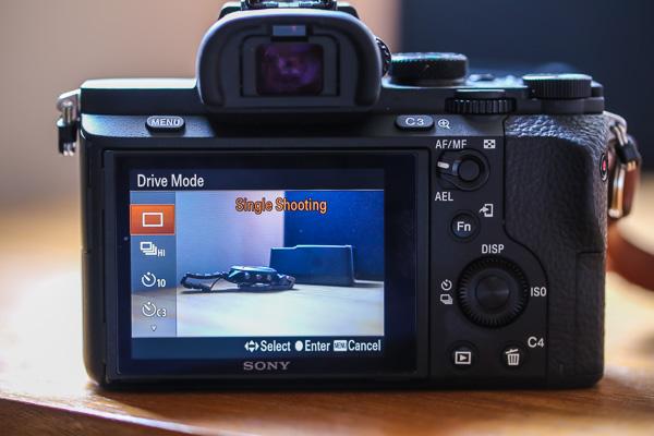 Drive mode kamera sony a7