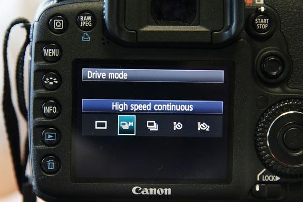 Drive mode kamera