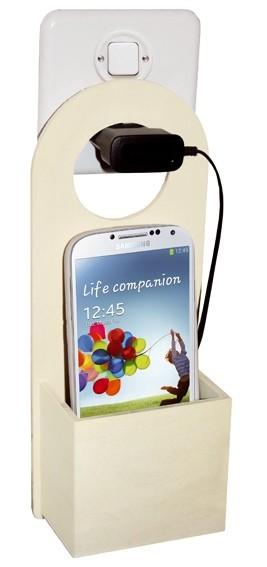 Ladestation fr Handy Smartphone Holz
