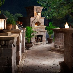 Outdoor Kitchen Pizza Oven Design Best Way To Remove Grease From Cabinets Brick Fireplace