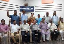 Pioneer bank election