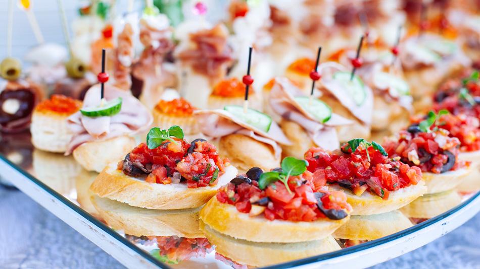 Italiaans buffet met aperitiefhapjes