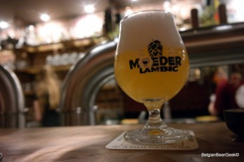 Fresh craft beer at Moeder Lambic
