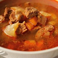 Hungarian Goulash Soup Made at Home