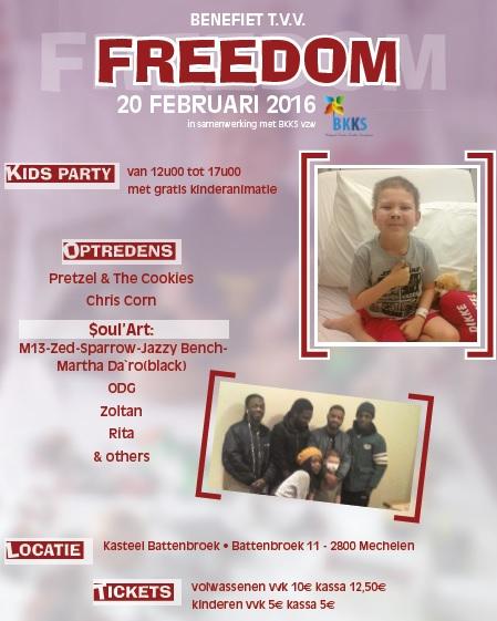 Benefiet voor Freedom programma
