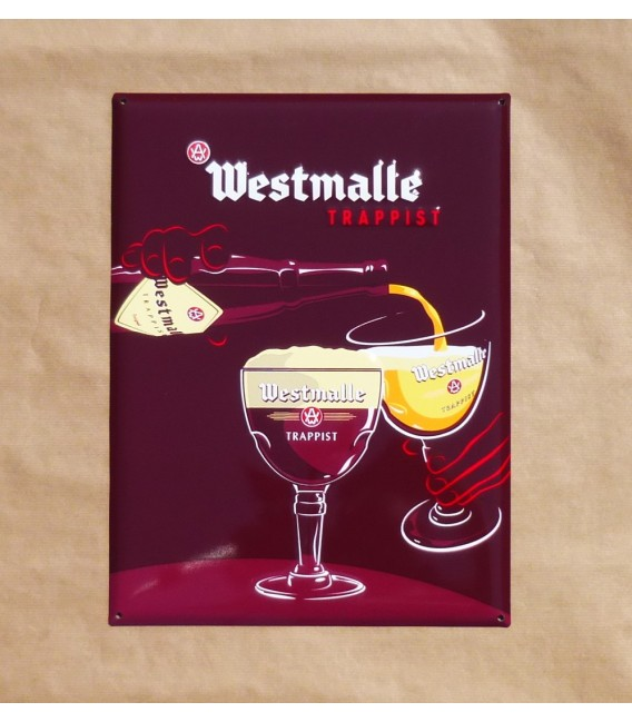 Westmalle Trappist Beer Sign In Tin Metal