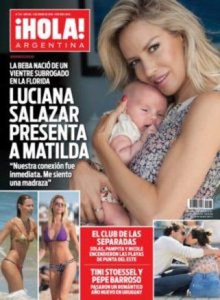 Luciana Salazar portada de Hola con Matilda