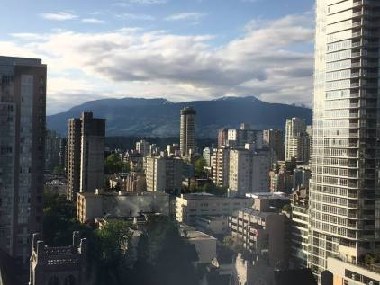 The view of Vancouver from our hotel