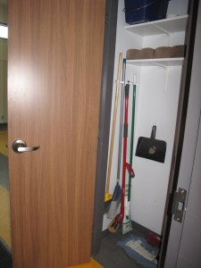 Lower Hall Cleaning Cupboard