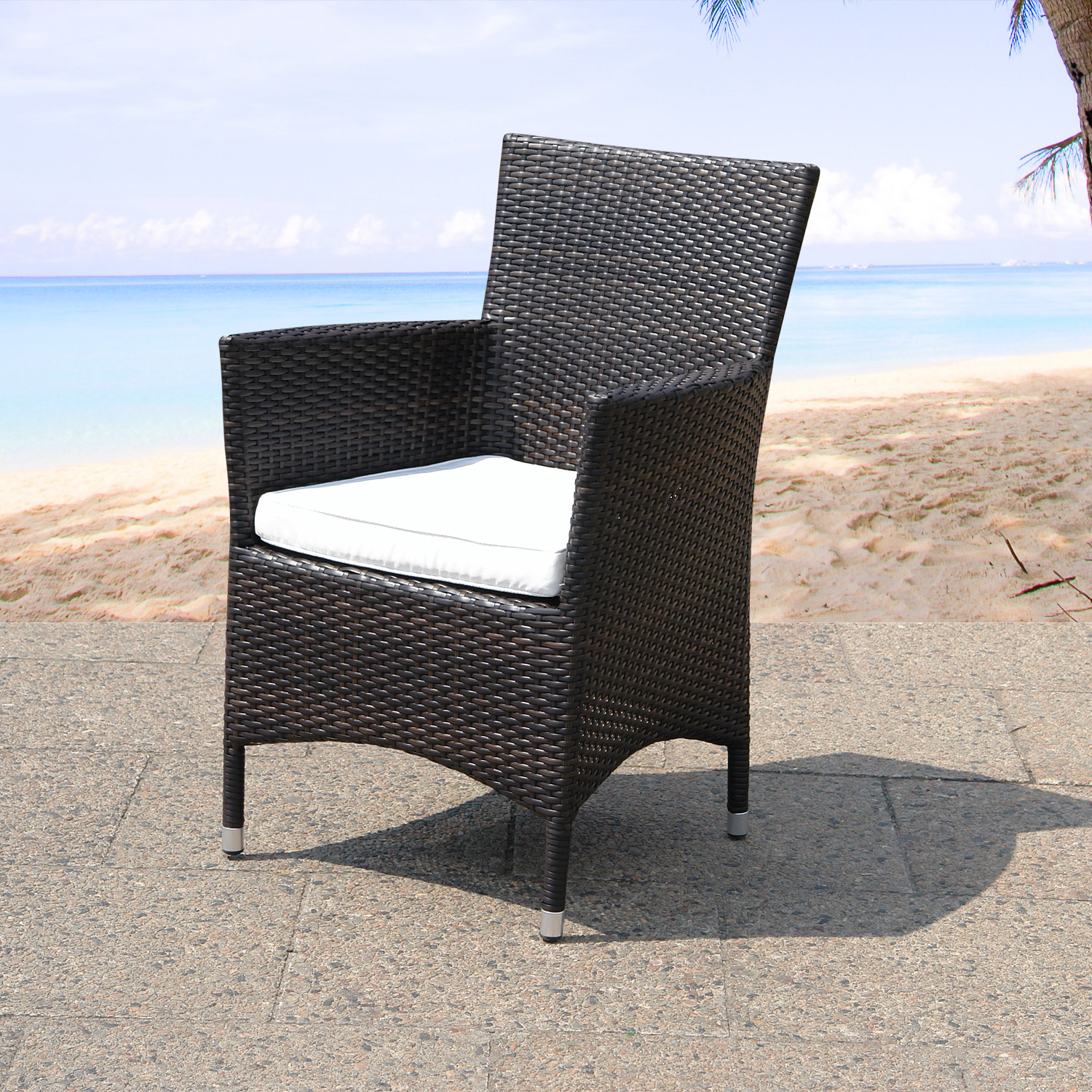 Wicker Patio Chair Garden Dinning Chair Seat Cushion Patio Wicker Italy