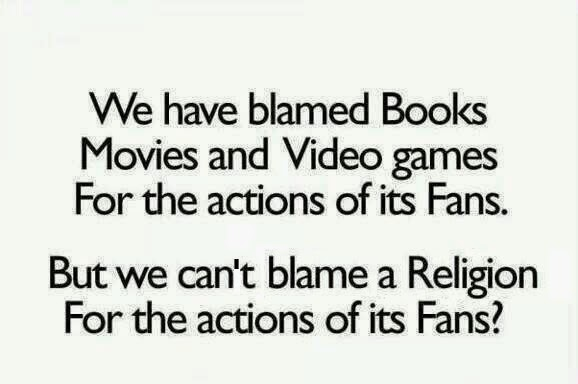 Blaming books, movies, and video games for the actions of