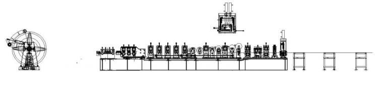 C/Z Purlin Roll Forming Machine layout