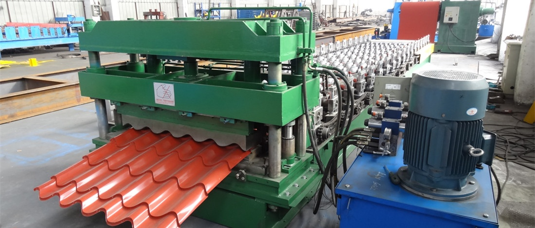 Metal Glazed Tile Roll Forming Machine Video