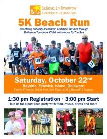 Believe In Tomorrow, 5K Beach Run