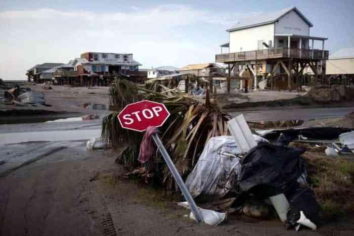 Grand Isle, Louisiana after Hurricane Ida