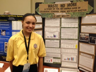Abby Walling presents at JSHS Nationals.
