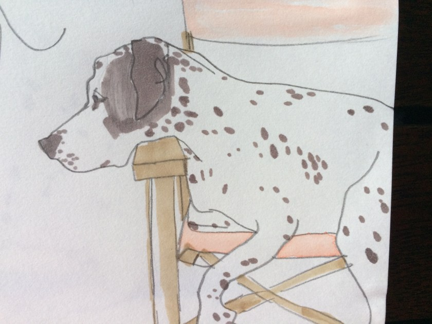Sketch of Sarah, the dalmation