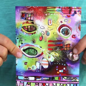 Funky Greeting Cards Original Art