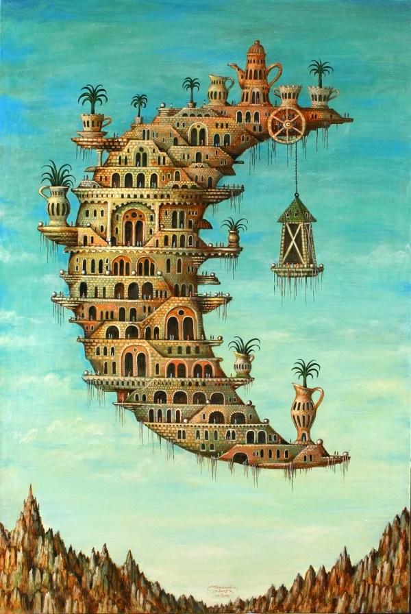 Salvador Dali Moon Painting