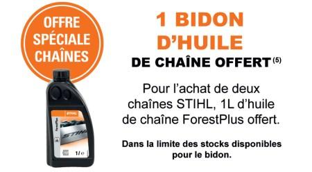 STIHL - Offre huile de chaine