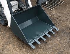 MicroBull - Godet terrassement avec dents et lame d'attaque renforcées