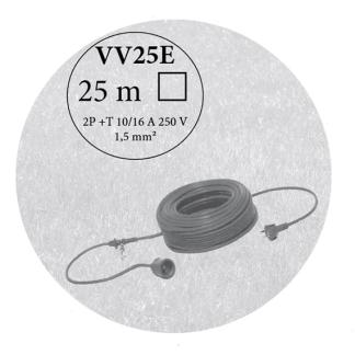 Câble longueur 25m - réf.VV25E - ETESIA