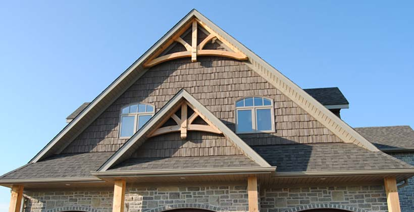 Gable trim belk custom builders Gable accents