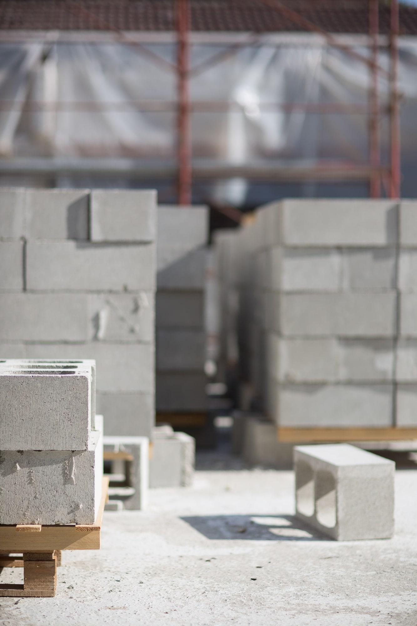 mattoni e materie prime relative alla progettazione di buccinasco