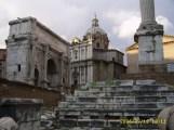 Arco di Settimio Severo, Chiesa dei Santi Luca e Martina, Colonna di Foca (Foro Romano)