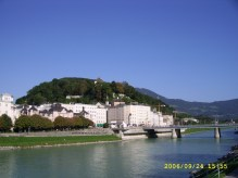 Kapuzinerkloster Salzburg from Makartsteg