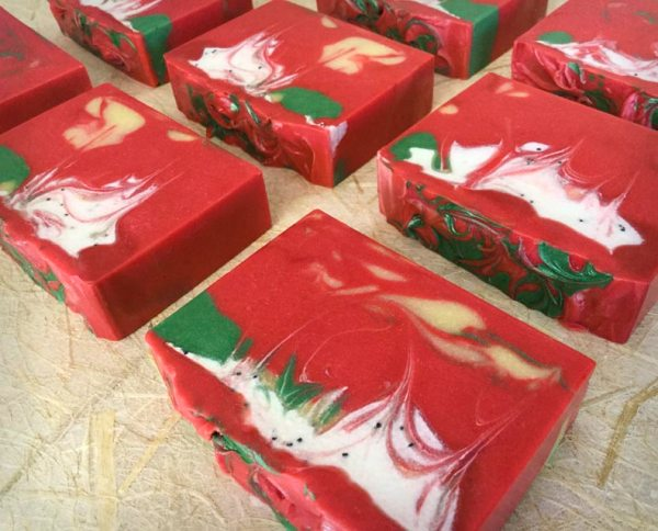 Group of Apple Orchard Coconut Milk Soaps
