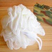 White Mess Shower Pouf