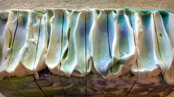Art Deco handmade soap