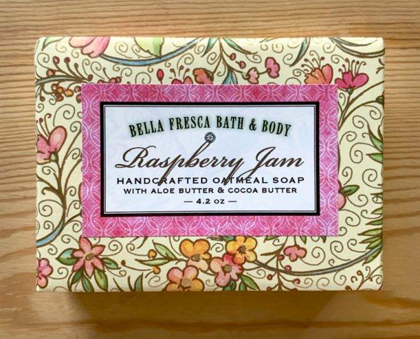 Raspberry Jam Soap Package
