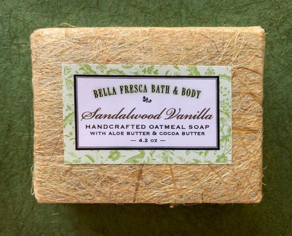Sandalwood Vanilla soap package