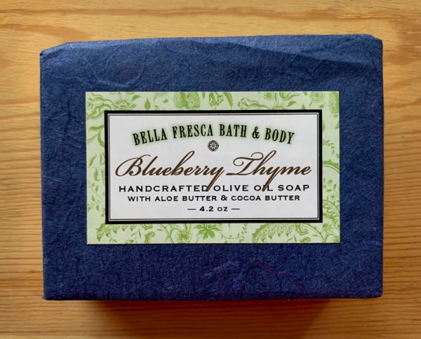 Blueberry Thyme Soap Package
