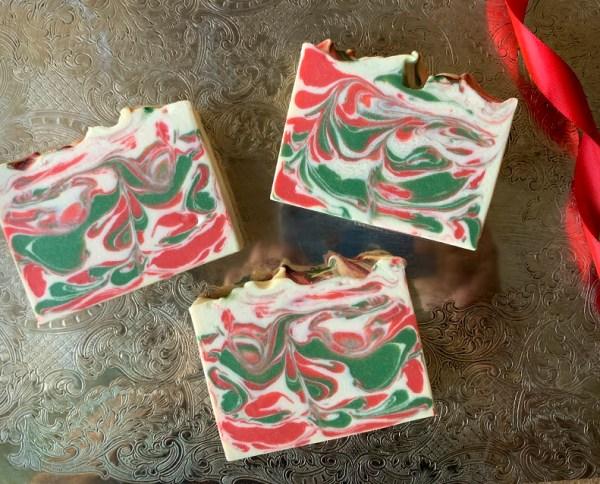 Christmas Eve coconut milk soap
