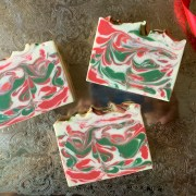 Christmas Eve coconut milk soap