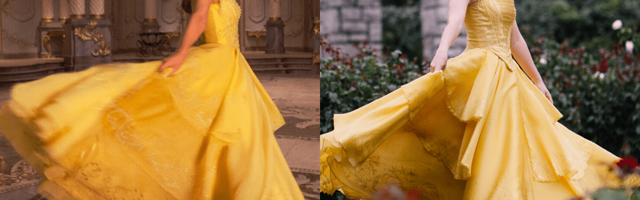 Side-By-Side Comparison – Belle's Dress