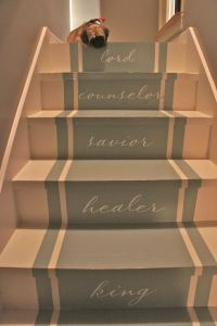 The gallery for --> Painted Stairs Stencils