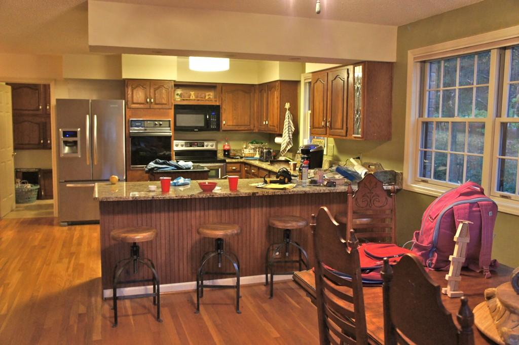 fluorescent kitchen lighting ideas cabinet glass doors painting cabinets and brick lighten up a