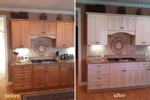 Before And After Photos Painted Cabinets Kitchen Makeover