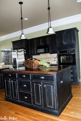 Black Distressed Painted Kitchen Cabinets Bella Tucker Decorative Finishes