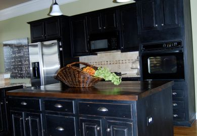 Painting Kitchen Cabinets Dark Blue