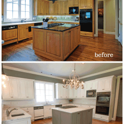 Paint Kitchen Cabinets White Sink Size For Painted Nashville Tn Before And After Photos Bella Tucker Decorative Finishes